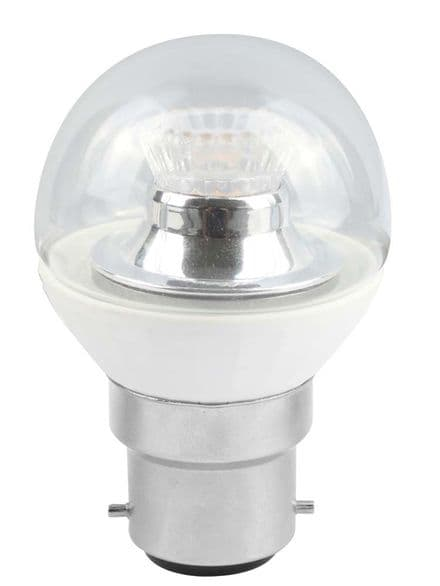 BELL 05147 4W LED 45mm Dimmable Round Ball Clear BC 4000K